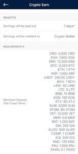 Crypto Interest Earning