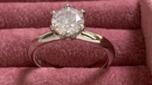 Moissainite diamond ring
